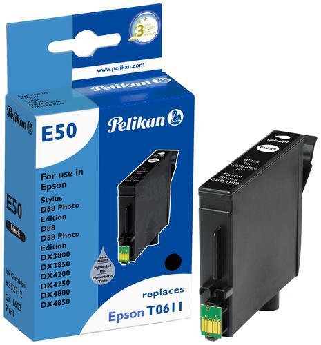 Pelikan Ink Cartridge replaces Epson T0611 Black