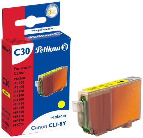 Pelikan Ink Cartridge replaces Canon CLI-8Y Yellow