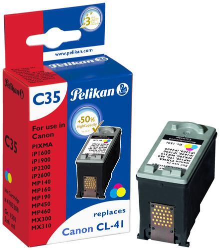 Pelikan Ink Cartridge replaces Canon CL-41 Tri-Colour