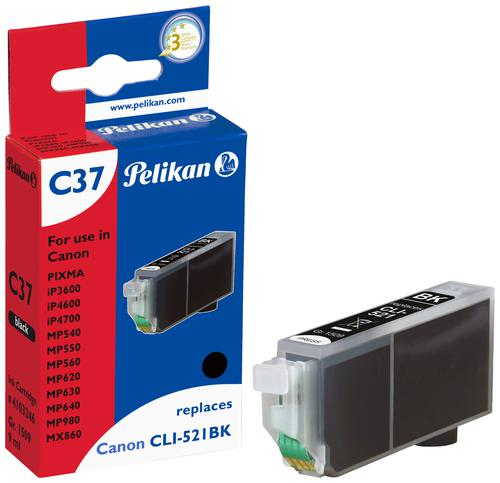 Pelikan Ink Cartridge replaces Canon CLI-521BK Black