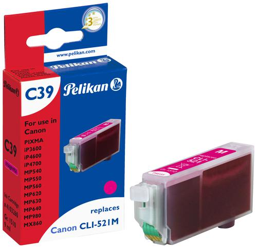 Pelikan Ink Cartridge replaces Canon CLI-521M Magenta