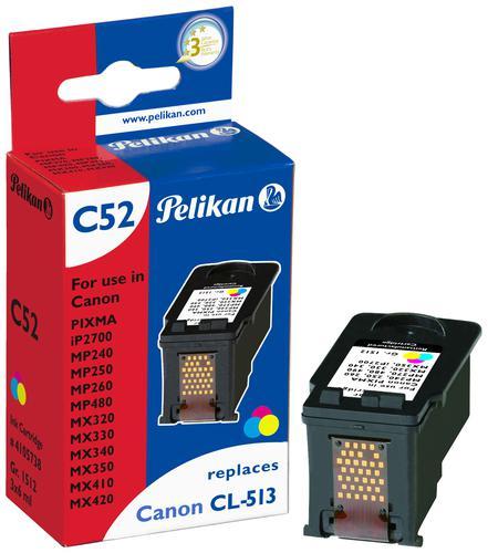 Pelikan Ink Cartridge replaces Canon CL-513XL Tri-Colour