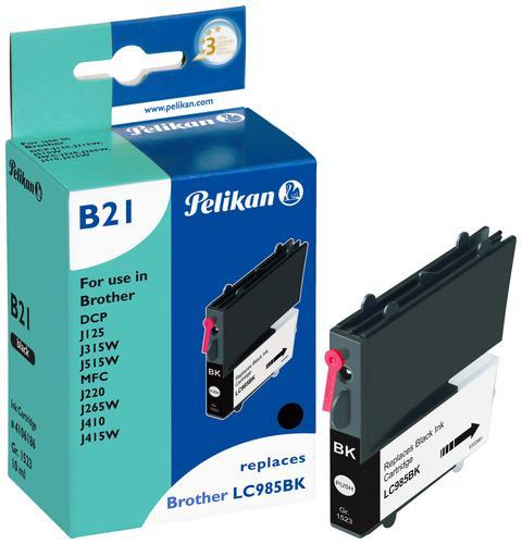 Pelikan Ink Cartridge replaces Brother LC985BK Black