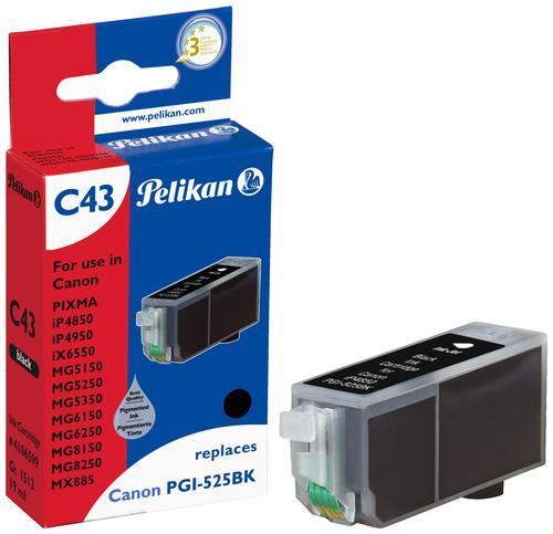 Pelikan Ink Cartridge replaces Canon PGI-525PGBK Black