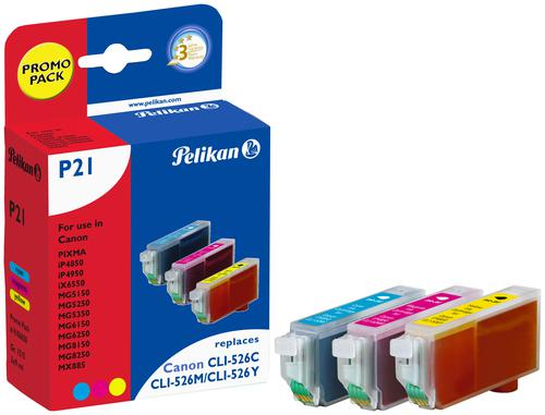 Pelikan Ink Cartridge replaces Canon CLI-526 Tri-Colour