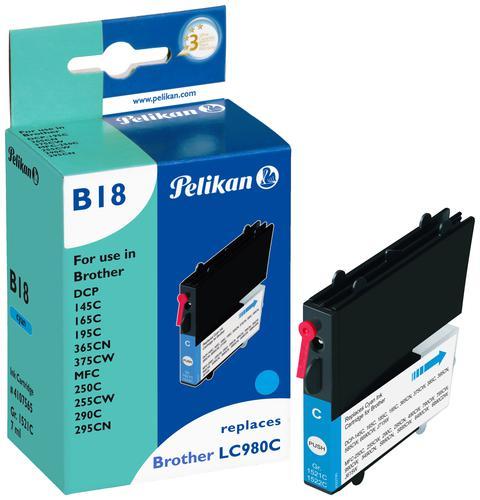 Pelikan Ink Cartridge replaces Brother LC980C Cyan