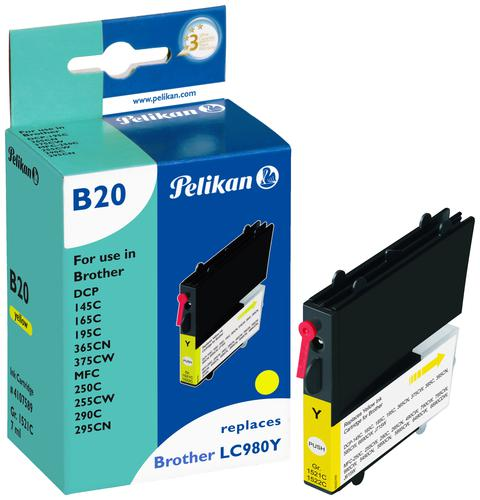 Pelikan Ink Cartridge replaces Brother LC980Y Yellow