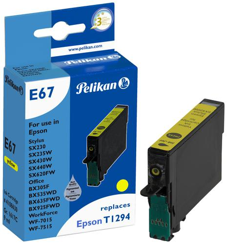 Pelikan Ink Cartridge replaces Epson T1294 Yellow