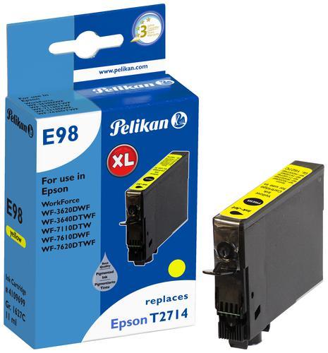 Pelikan Ink Cartridge replaces Epson 27XL Yellow (T2714)