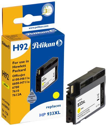 Pelikan Ink Cartridge replaces HP 933XL Yellow (CN056AE)