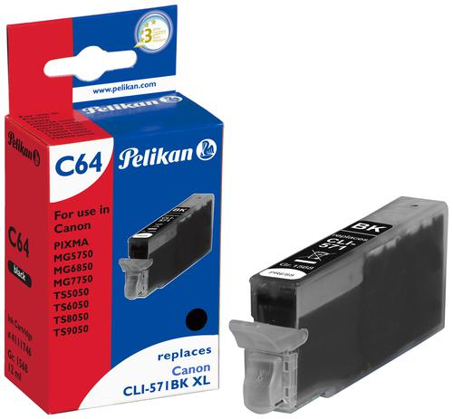 Pelikan Ink Cartridge replaces Canon CLI-571XL Black