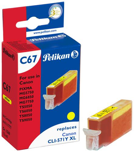 Pelikan Ink Cartridge replaces Canon CLI-571XL Yellow