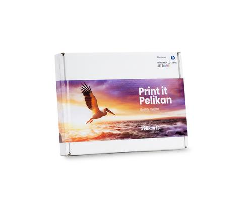 Pelikan Ink Cartridge replaces Brother LC123 Value Pack B/C/M/Y SLIM