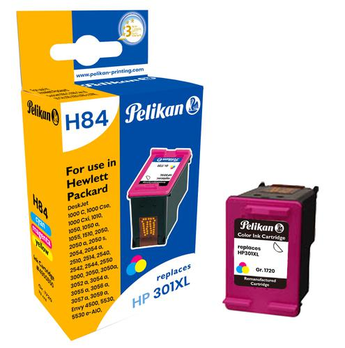 Pelikan Ink Cartridge replaces HP 301XL Tri-Colour (CH564EE)