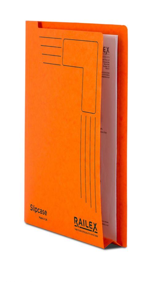 Railex Slipcase A4 350gsm Mandarin SLIP PK25