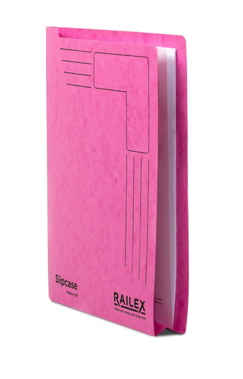 Railex Slipcase A4 350gsm Cerise SLIP PK25
