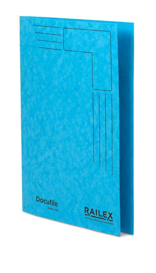 Railex Docufile Square Cut Folder F7 Foolscap 350gsm Turquoise PK100