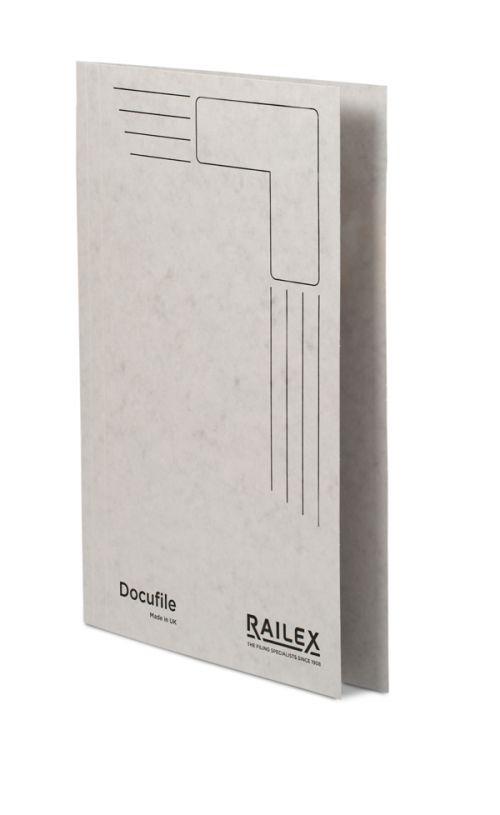 Railex Docufile Square Cut Folder F7 Foolscap 350gsm Pearl PK100