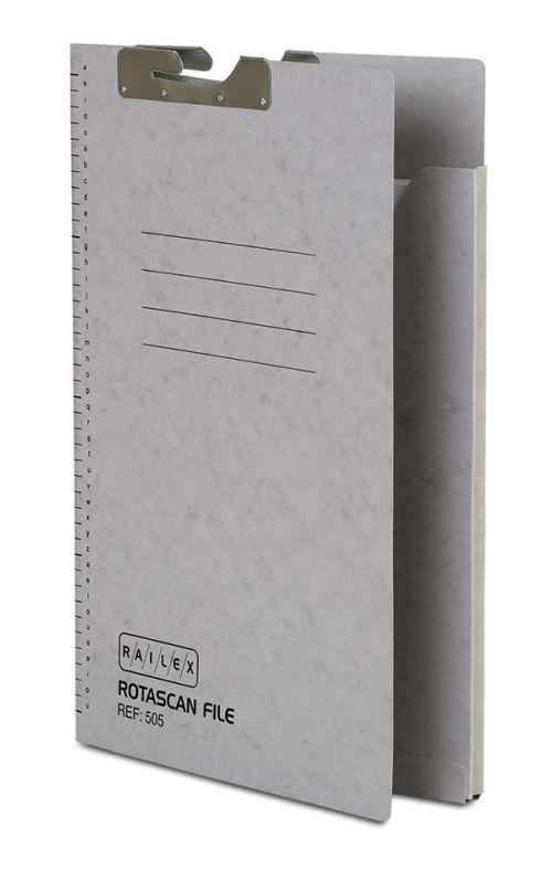 Railex 505 Rotascan Single Pocket File 5mm Foolscap 330gsm Pearl PK50