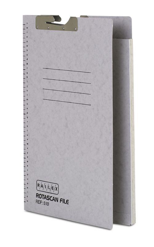Railex 510 Rotascan Single Pocket File 10mm Foolscap 330gsm Pearl PK50