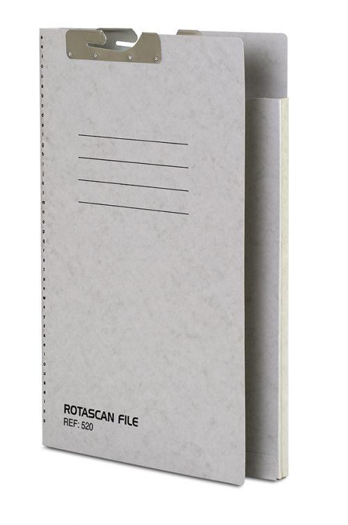 Railex 520 Rotascan Single Pocket File 15mm Foolscap 330gsm Pearl PK50
