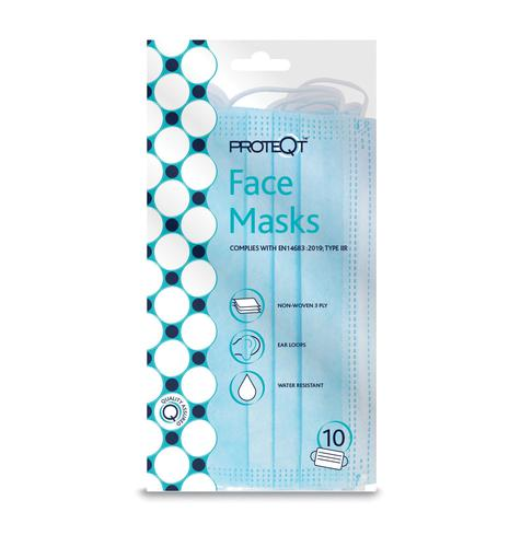 Proteqt™ Type IIR Face Masks - Pack of 10