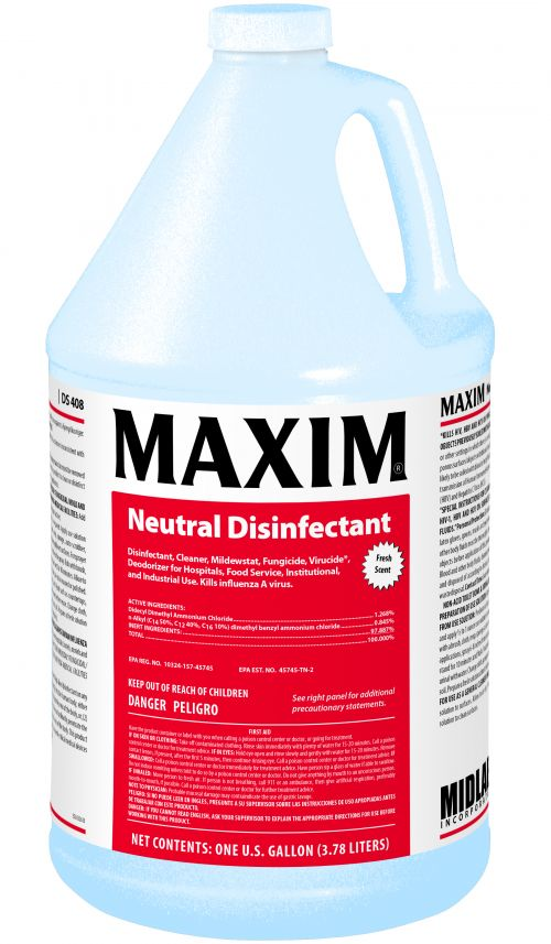 Midlab DS408 Fresh Scent NDC Disinfectant Sanitizer Pack 4/1 GAL