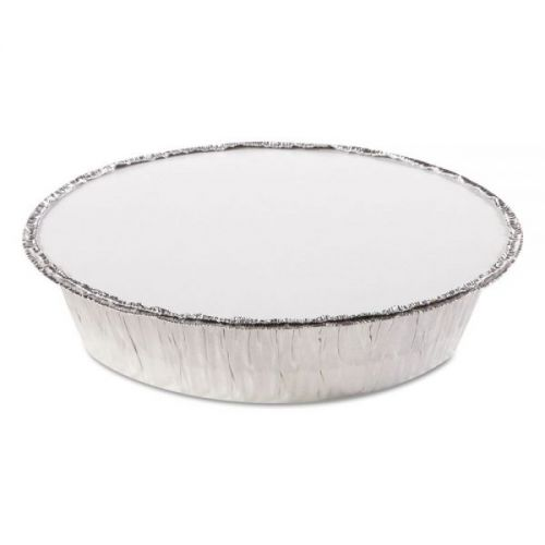 """HFA 7"""" Round Foil Pan With Lam Board Lid Combo Pack Pack 200 / 200"""