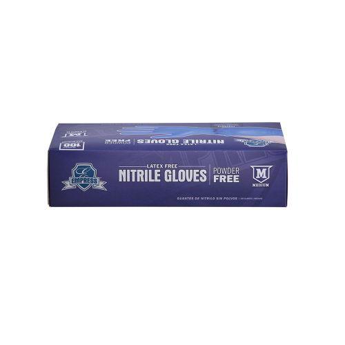 Empress Nitrile Gloves Blue Powder Free Medium Pack 10 / 100 cs