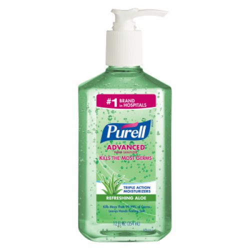 Purell Instant Hand Sanitizer /Aloe 12 oz Pump Bottle Pack 12 / case