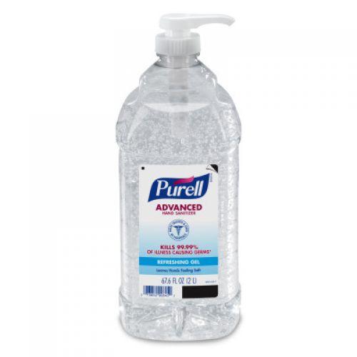 Purell Instant Hand Sanitizer 2 Liter Pump Bottle Clear Pack 4 / cs