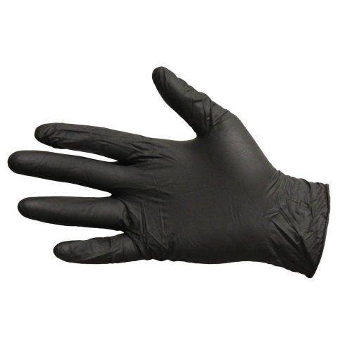 Impact Nitrile Powder Free Gloves Black Large Pro Guard Pack 10 / 100