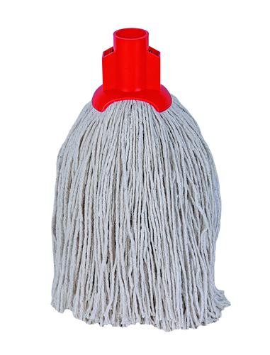 Twine Yarn Socket Mop Head for Rough Surfaces Red 340gsm 101852RD [Pack 10]