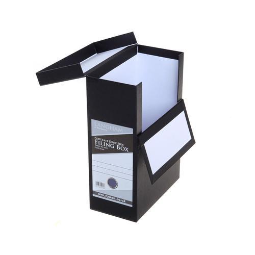 Ryman Filing Box Portrait A4 Foolscap in Black