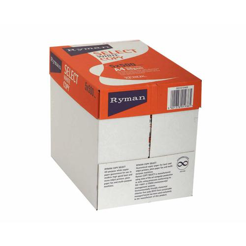 Ryman Select Copier Paper A4 80gsm 1 Ream of 500 Sheets