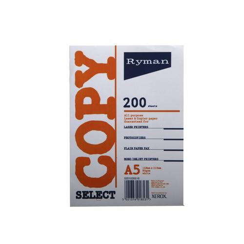 Ryman Copier Paper A5 80gsm Pack of 200 Sheets