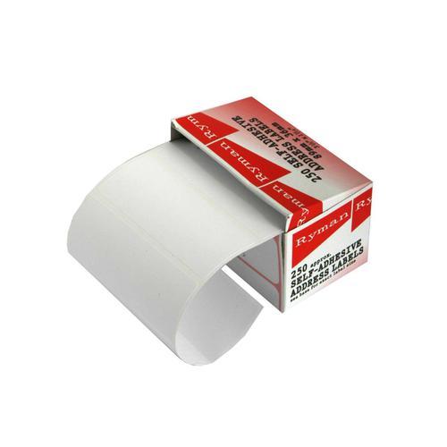 Ryman Address Labels Box of 250 36 x 89mm in White
