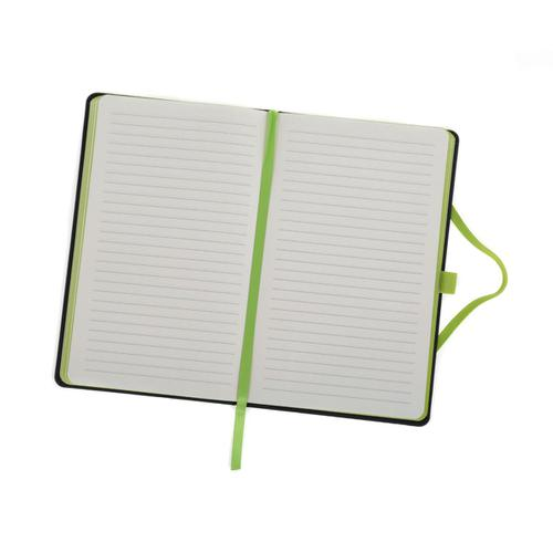 Ryman Medium Soft Cover Notebook Ruled with 192 Pages in Black and Lime