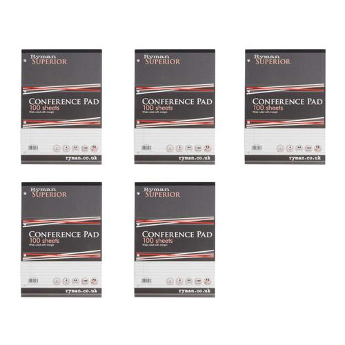 Ryman A4 Conference Pad with Margins 100 Sheets