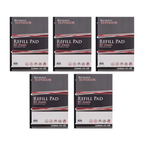 Ryman Superior Pad A4 Ruled 80 Sheets