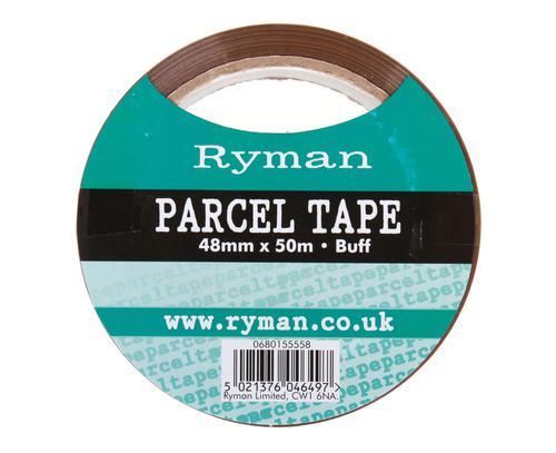 Ryman Parcel Tape 48mm x 50m Buff