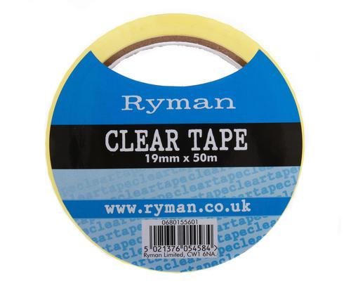 Ryman Clear Tape 19mm x 50m