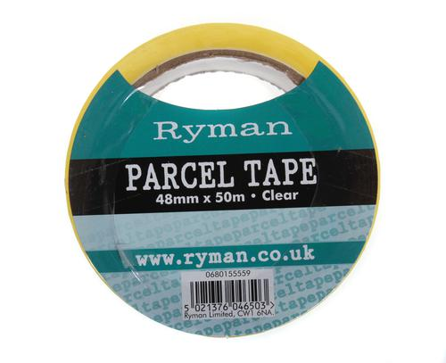 Ryman Parcel Tape 48mm x 50m in Clear
