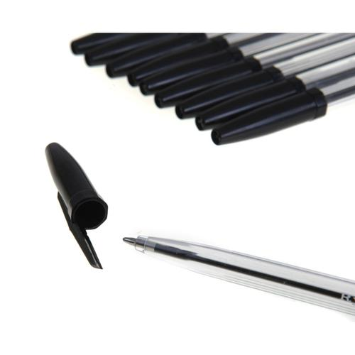 Ryman Ball Point Pens in Black Pack of 10