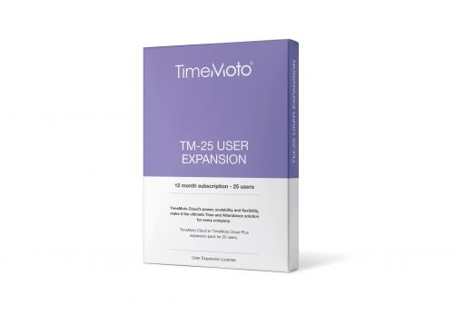 TimeMoto by Safescan TM-25 Cloud User Expansion 25 Users Ref 139-0592
