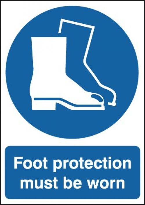 Safety Sign Foot Protection Must be Worn A4 PVC MA01450R