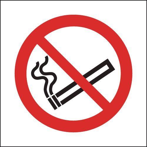 Safety Sign No Smoking Symbol 50x50mm Self-Adhesive PH04739S