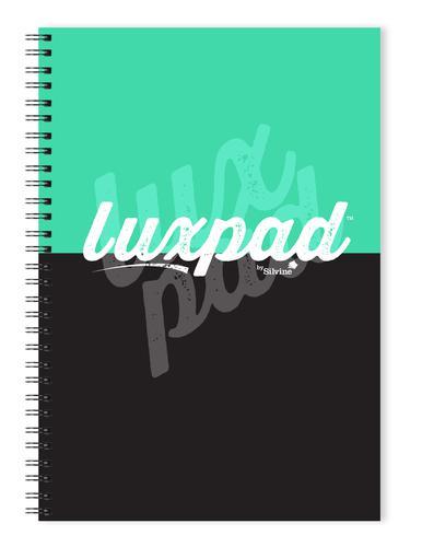 Silvine Luxpad B5 Wirebound Notebooks 5mm Dot Grid & Perf 200pg 80g 4 Holes Asstd LUX5BD [Pack 3]
