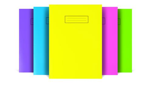 Silvine A4 Bright Exercise Books Ruled (5 Assorted Bright Colours) NBA4BT [Pack 10]