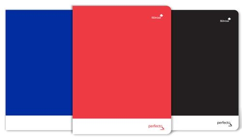 Silvine A4+ Soft Touch Perfecto Notebooks Perforated 75gsm 160pages Assorted [Pack 6]
